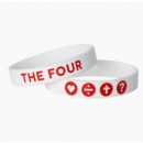The Four Armband weiß/rot 19 cm