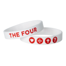 The Four Armband Rot - 19 cm