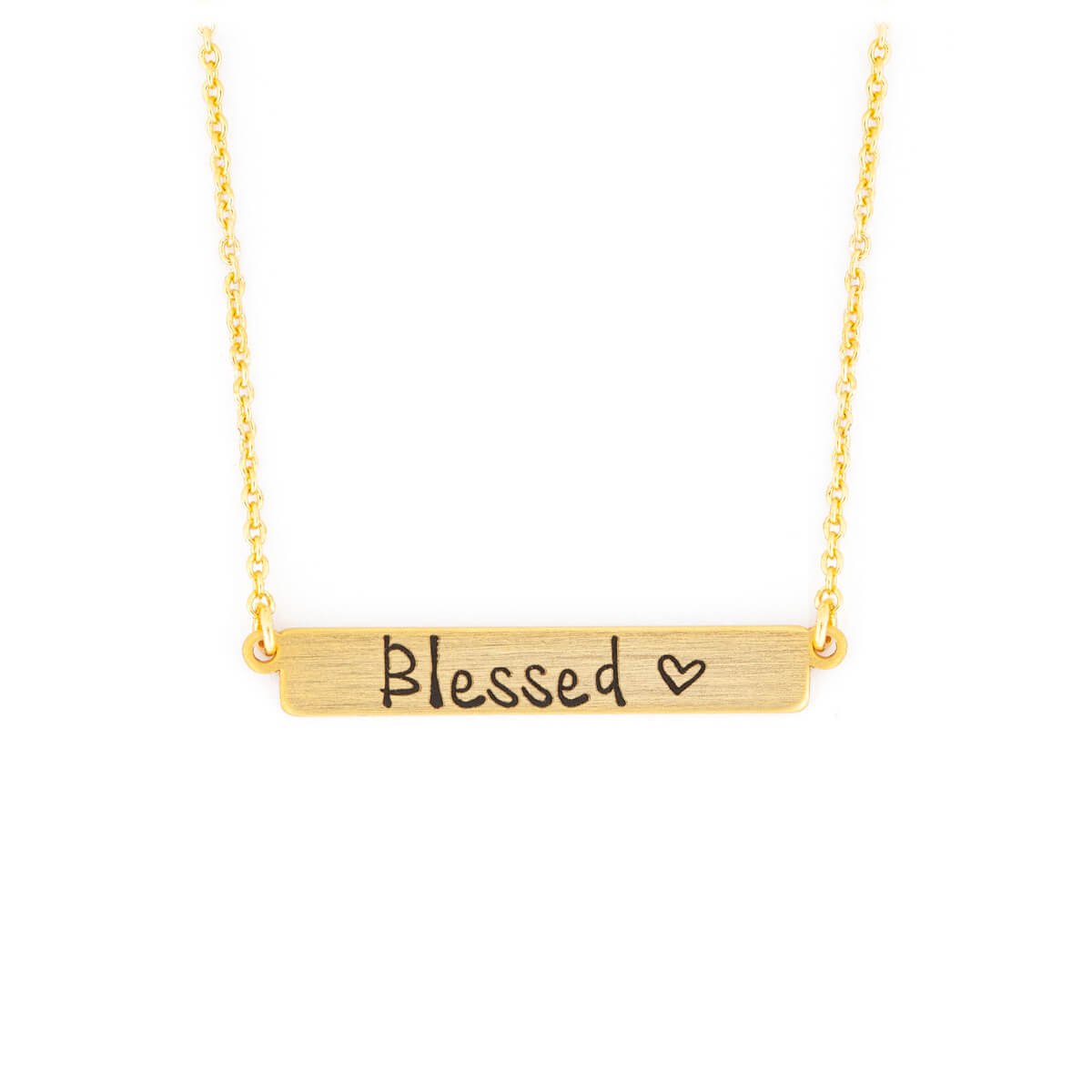 Blessed - Kette|Länge ca. 40-44 cm, Messing mit Goldauflage