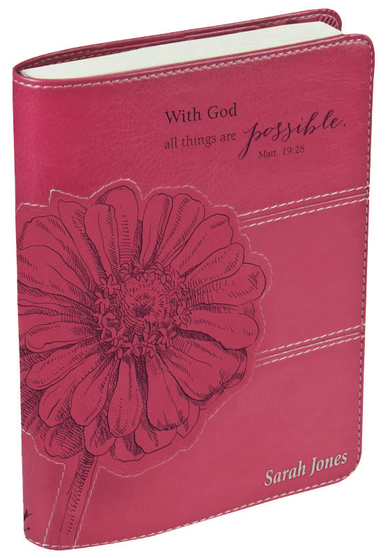 With God all things are possible - Pink, Journal 17.5 x 12.5 cm