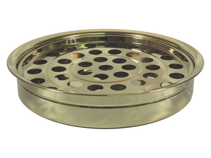 Brasstone Communion Tray for glasses - Stainless steel - Gold Finish