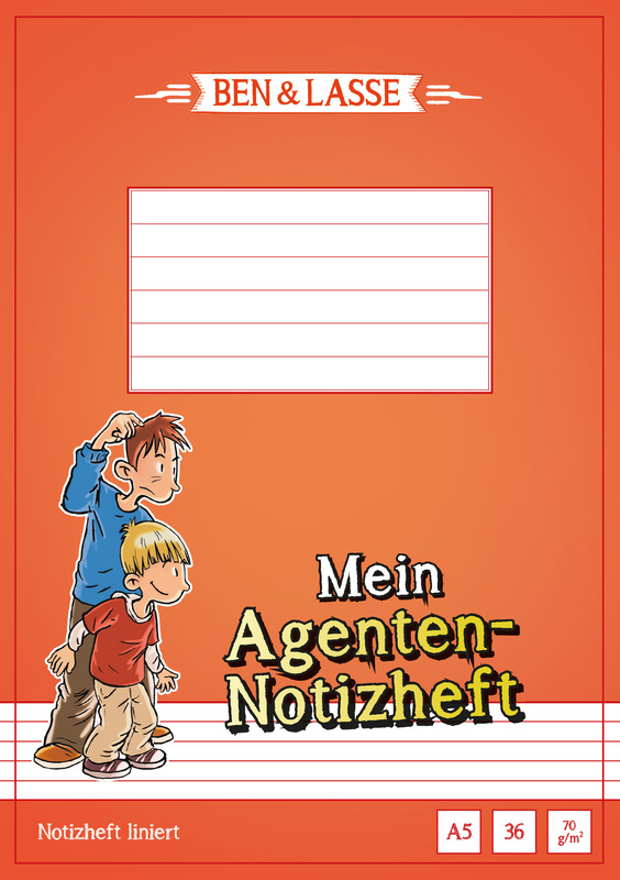 Detektiv-Notizheft A5 Ben & Lasse (10er-Pack)